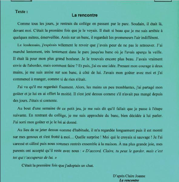 مناظرة السيزيام 2021 امتحان فرنسية
